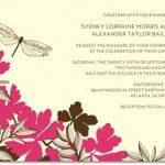Invitation of the Week: Dragonfly Garden by Dwell Studio for Wedding Paper Divas