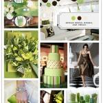 Color Palette: Spring Green, Brown and Cream
