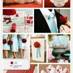 Color Palette: Red, Aqua, and White
