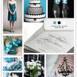 Color Palette: Turquoise, Black and White