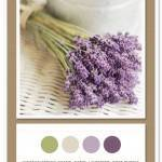 Color Card 037: Vintage Spring Green, Sand, Lavender, Soft Purple