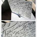 Invitation of the Week: New Calligraphy by Bella Figura