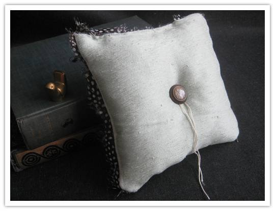 pillow Buy It Yourself: Fine Feathered Frenzy Ring Pillow by Evie S. Weddings and Events