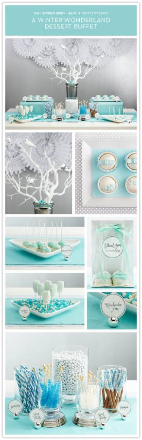 allbuffet1 Winter Wonderland Dessert Table: A Partnership with Bake It Pretty