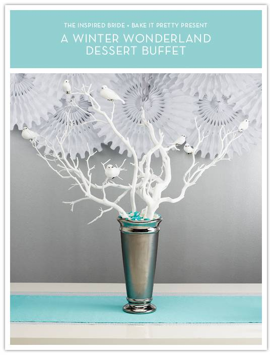 centerpiece Do It Yourself Project: Winter Wonderland Dessert Buffet Centerpiece