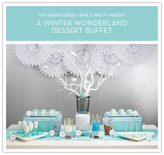 dessert buffet Do It Yourself Project: Winter Wonderland Dessert Buffet Decor