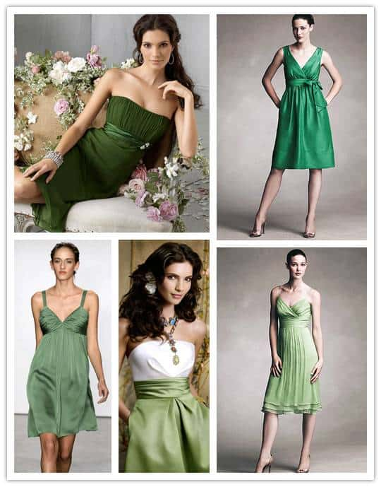 greens A Spectrum of Bridesmaids: Greens