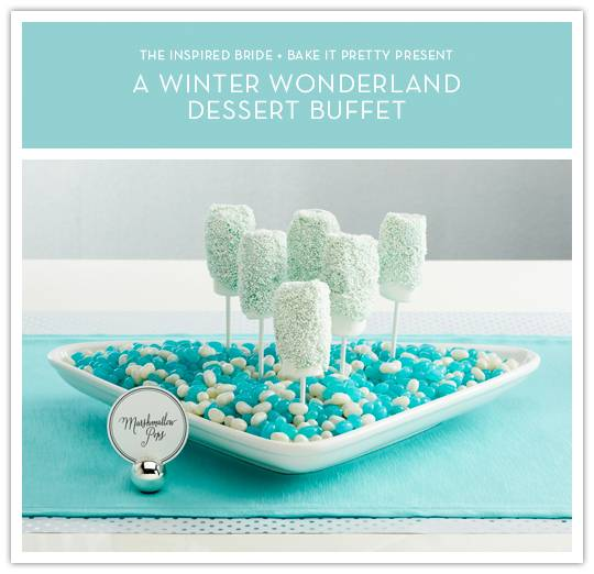 Winter Wonderland Marshmallow Pops