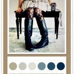 Color Card 057: Taupe, Light Khaki, Cement, Powder Blue, Cerulean, Navy