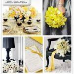 Color Palette: Honey Yellow, White, Charcoal Gray and Black