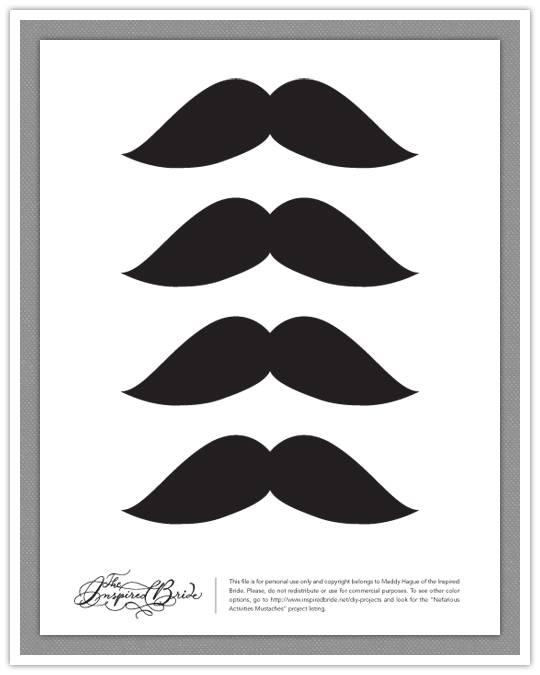 Style sensibility diy create your own mustaches for Mustache print out template