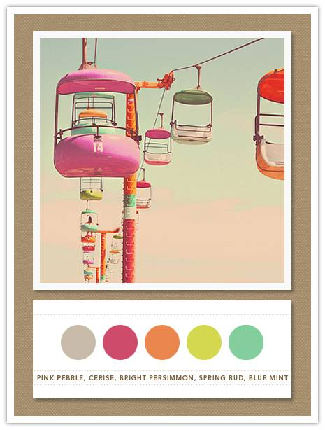 Color Card 066: Pink Pebble, Cerise, Bright Persimmon ...