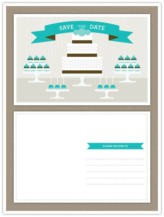 printable Do It Yourself Project: Dessert Buffet Save the Date (and Congratulations!)