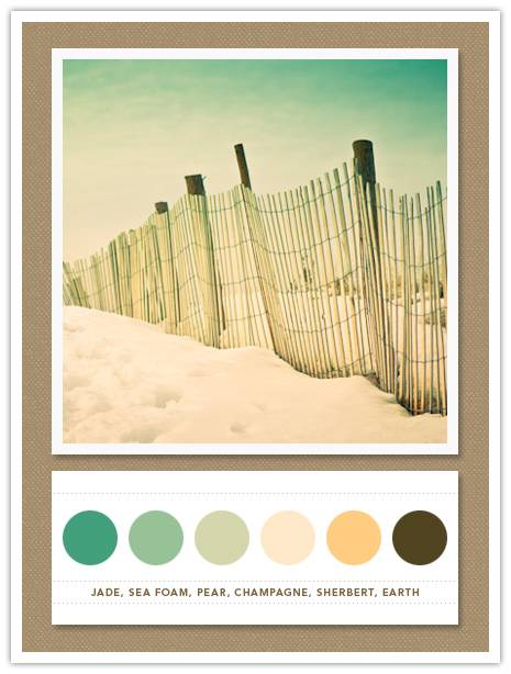 04 Color 071: Jade, Sea Foam, Pear, Champagne, Sherbert, Earth