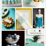 Color Palette: Golden Yellow, Aqua, White, and Charcoal
