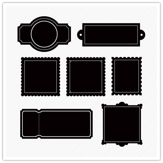 stamps Design Element Directory: Frames, Stamps and Labels
