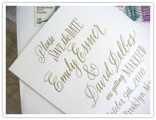 Lovely Letters: A Gorgeous Save the Date from Leigh Wells