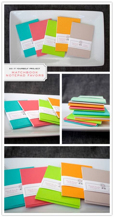 matchbook Do It Yourself Project: Matchbook Notepad Favors