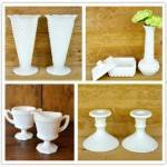 White (Glass) Wedding: Milk Glass Selects from Haven Vintage