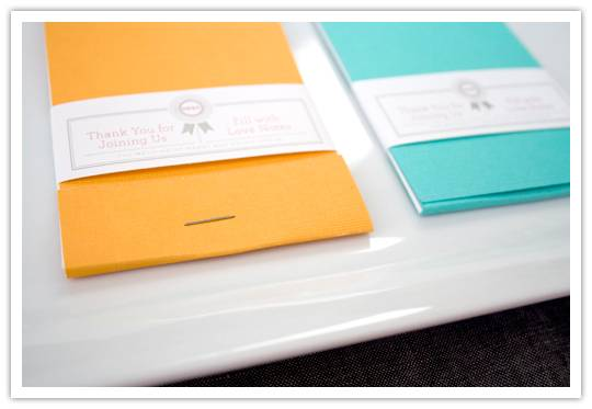 alternate Do It Yourself Project: Matchbook Notepad Favors