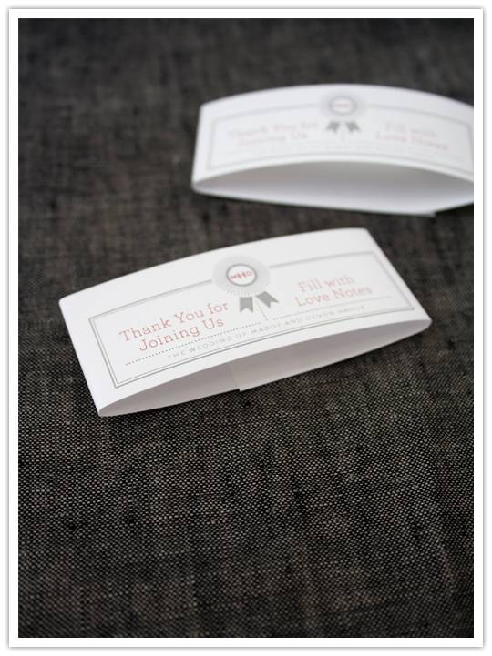 labels Do It Yourself Project: Matchbook Notepad Favors