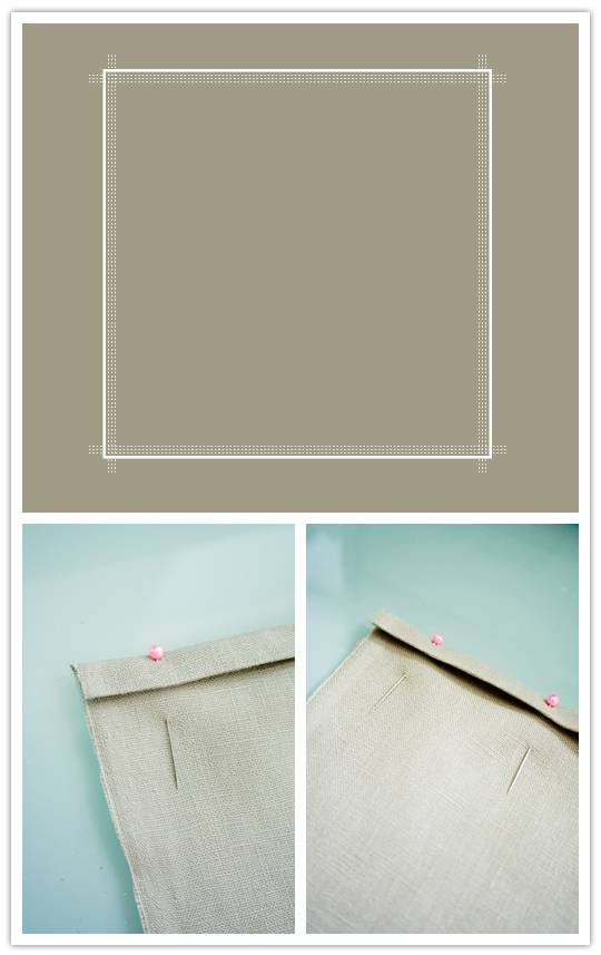linen Do It Yourself Project: Stamp Printed Linen Napkins