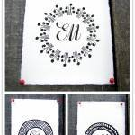Charming Calligraphy Monograms from K is for Calligraphy