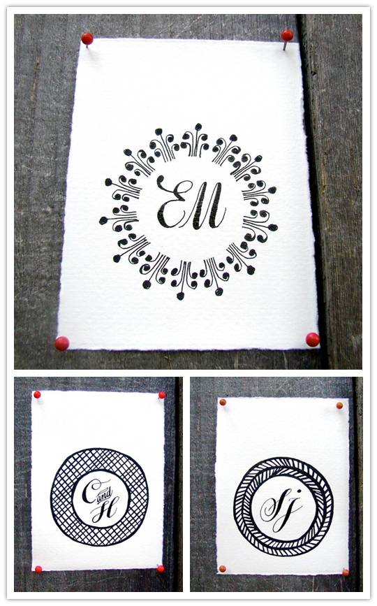 calligraphy Charming Calligraphy Monograms from K is for Calligraphy