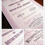 Real Invitation: Bryan + Christina via FPO