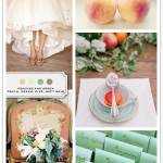 Color Palette: Peach, Cream, Pine, Soft Gold