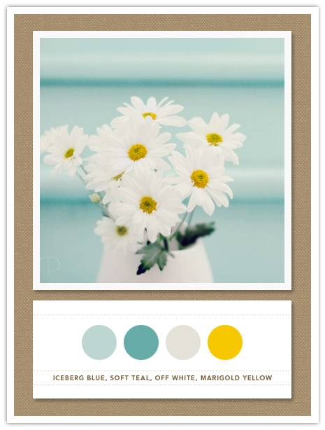 color card 097 iceberg blue soft teal off white