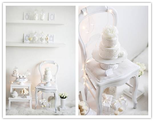 014 Inspiration Shoot: Winter White Dessert Table