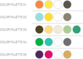 modern The Inspired Bride Plans a Wedding: Color Palettes