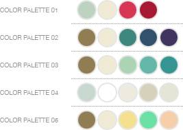 romantic The Inspired Bride Plans a Wedding: Color Palettes