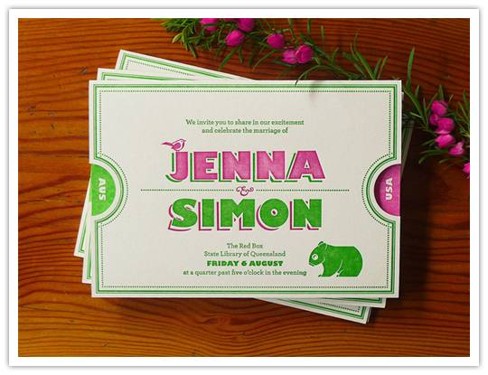 invite2 Real Invitations: Jenna + Simon