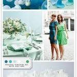 Color Palette: Cerulean, Turquoise, Sky, White, Mint, Jade