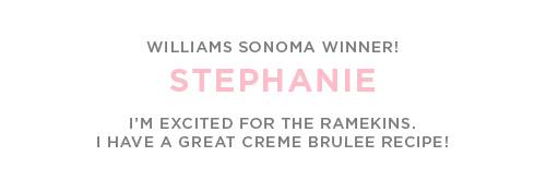 Williams-Sonoma Winner!