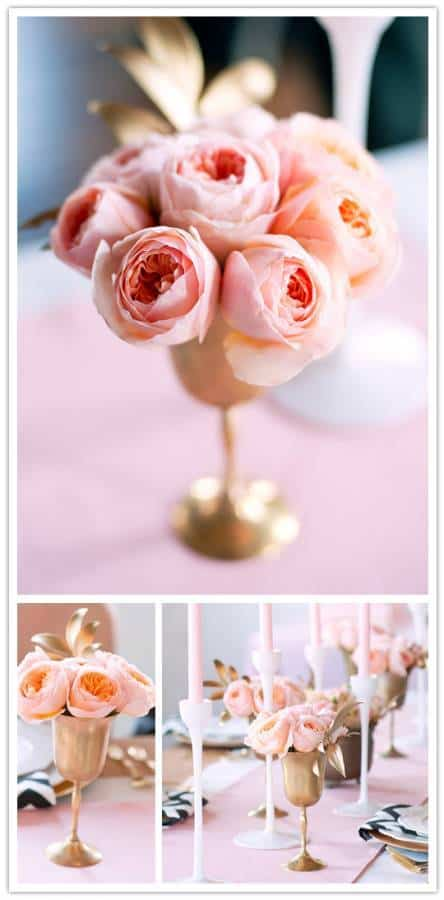 flowerarrangement Do It Yourself Project: Gilded Garden Rose Arrangement