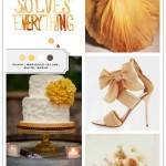 Color Palette: Peach, Marigold Yellow, White, Sable