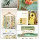 Color Palette: Sunshine Yellow, Eggshell, Seafoam Green