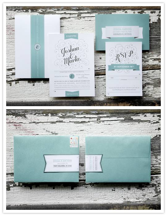 marta Real Invitations: Marta + Joshua