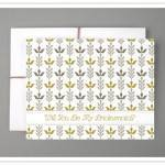 Do It Yourself Project: Will You Be My Bridesmaid Patterned Printable Card