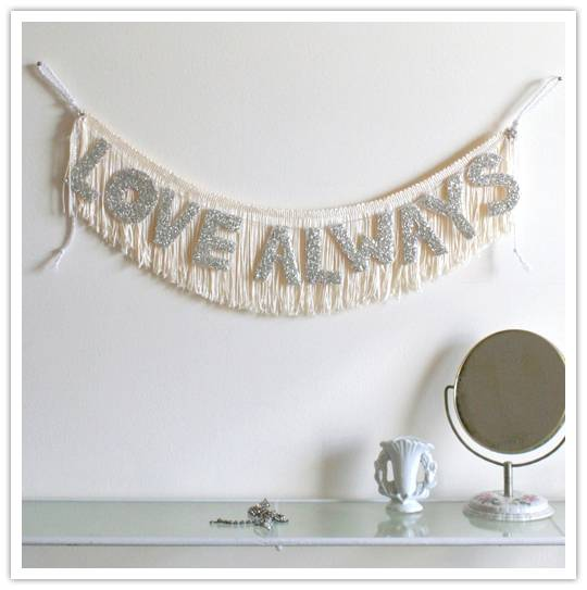 Say It With Sparkle: Fringe Banners from Nice