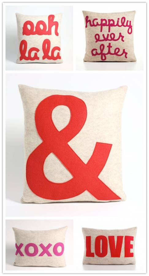 Decorating with Love: Word Pillows from Alexandra Ferguson
