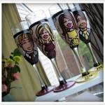 A Toast: Personalized Hand Painted Glassware