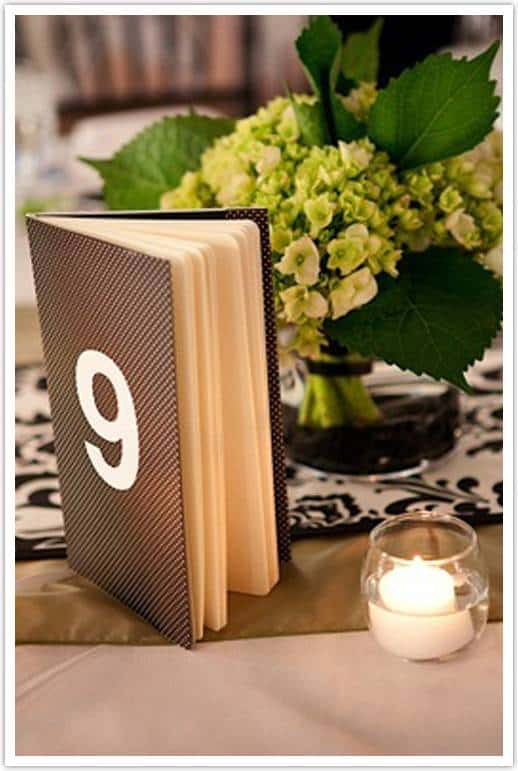I love how this DIY is serving 2 purposes As a table number and as a