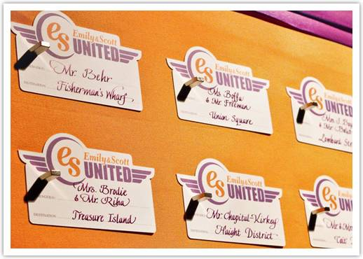 travel theme escort cards Fun Escort Card Ideas