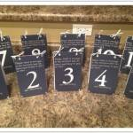 Inspiring Table Number Book by Preston Event Planning