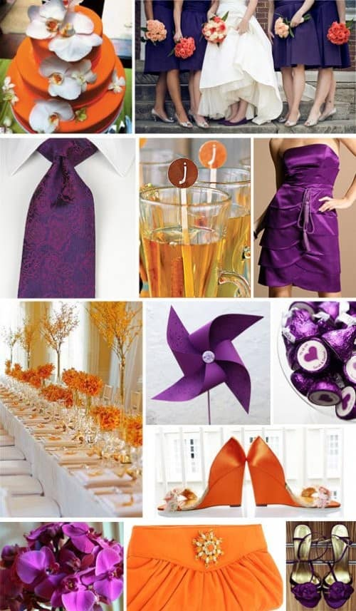 Wedding Color Palette Orange