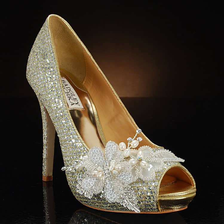 Decorated Wedding Shoes